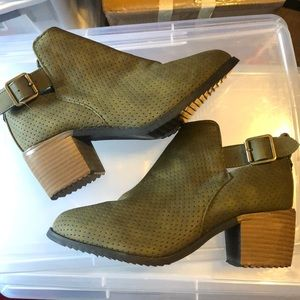Shoes - Green Booties